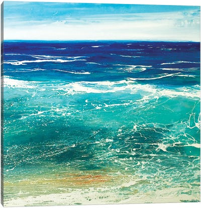 Transparent Azur Canvas Art Print