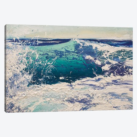 Transparent Azure IV Canvas Print #MSE50} by Michael Sole Canvas Print