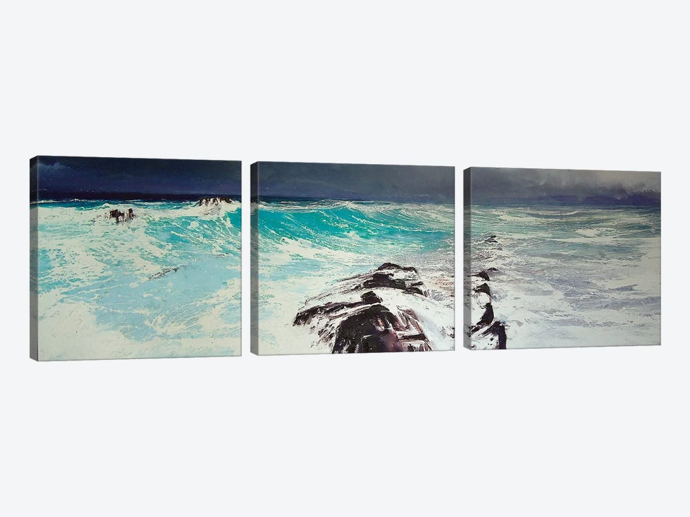 Cap d'Antibes, West by Michael Sole 3-piece Canvas Art
