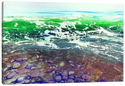 Emerald Pebbles Canvas Print #MSE60