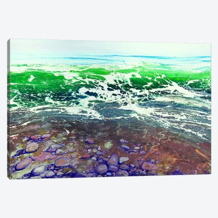 Emerald Pebbles Canvas Print #MSE60} by Michael Sole Canvas Wall Art