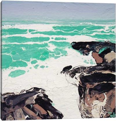 Cornwall Rocks (Sketch) Canvas Art Print