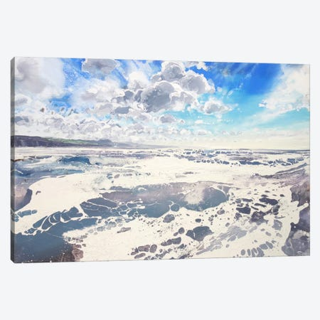 Lyme Bay Sky VI Canvas Print #MSE79} by Michael Sole Art Print
