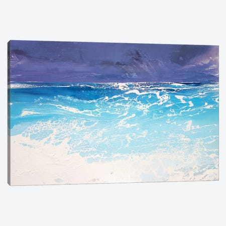 Storm On The Riviera V Canvas Print #MSE82} by Michael Sole Canvas Wall Art