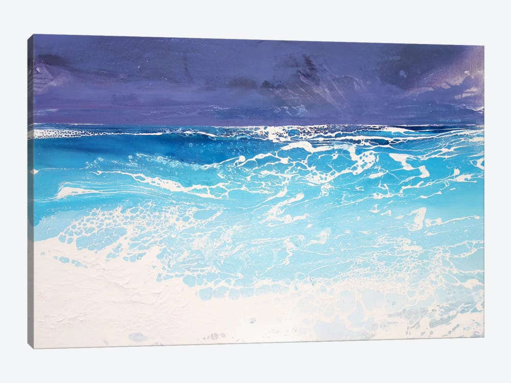 Storm On The Riviera V by Michael Sole 1-piece Canvas Art Print
