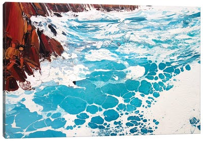 Seaspray, Red Rocks IX Canvas Art Print