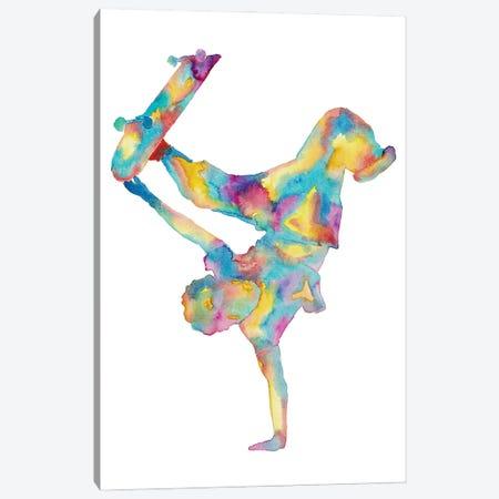 Skateboard Artwork Canvas Print #MSG102} by Maryna Salagub Canvas Print