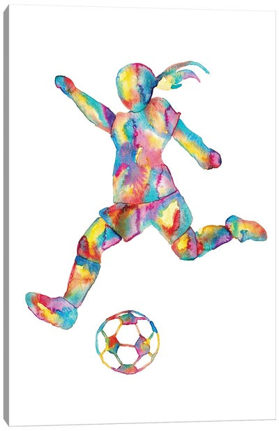 Soccer Girl Canvas Art Print