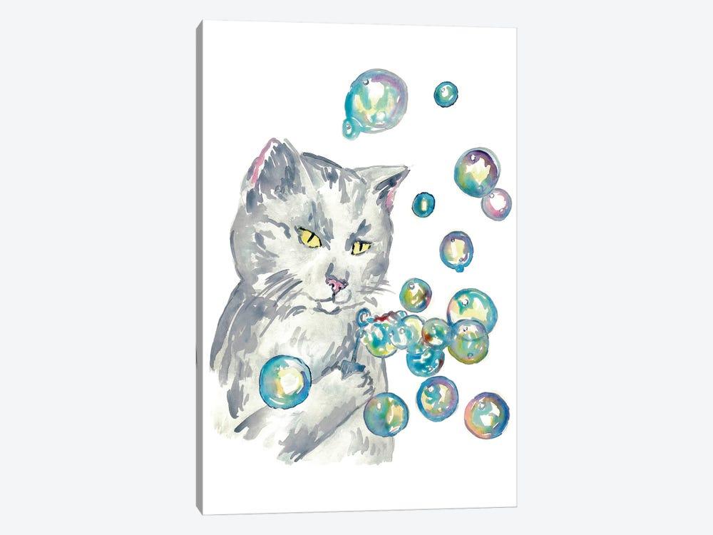 Cat Bubbles by Maryna Salagub 1-piece Canvas Art Print