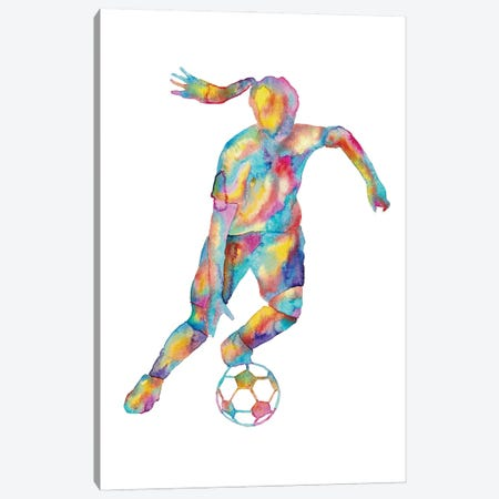 Soccer Girl Art Canvas Print #MSG110} by Maryna Salagub Canvas Artwork