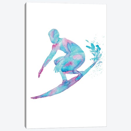 Surfing Artwork Canvas Print #MSG115} by Maryna Salagub Canvas Print