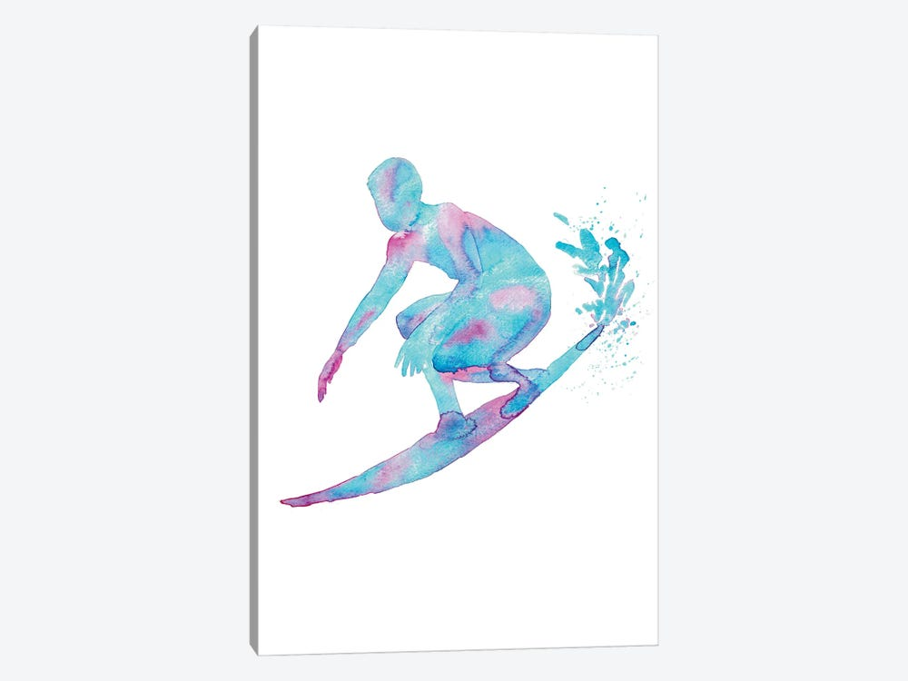 Surfing Artwork by Maryna Salagub 1-piece Canvas Art Print