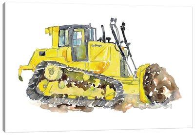 Bulldozer Art Canvas Art Print