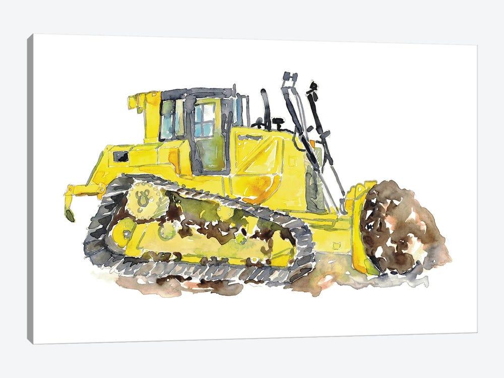 Bulldozer Art by Maryna Salagub 1-piece Canvas Art
