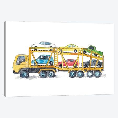 Car Carrier Canvas Print #MSG120} by Maryna Salagub Art Print