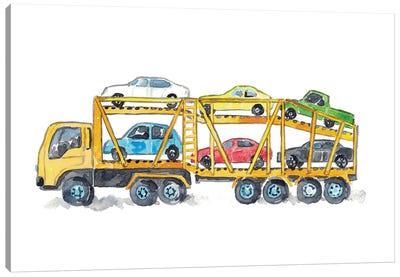 Car Carrier Canvas Art Print