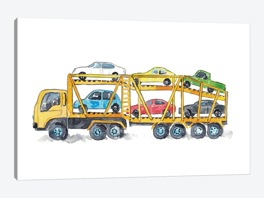 Car Carrier by Maryna Salagub 1-piece Canvas Print