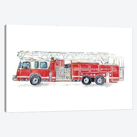 Fire Truck Canvas Print #MSG123} by Maryna Salagub Art Print