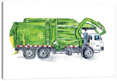 Garbage Truck Canvas Art Print
