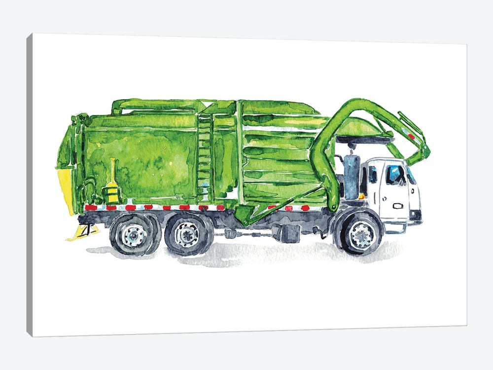 Garbage Truck by Maryna Salagub 1-piece Art Print