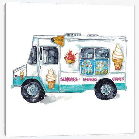 Ice Cream Truck Canvas Print #MSG125} by Maryna Salagub Canvas Artwork