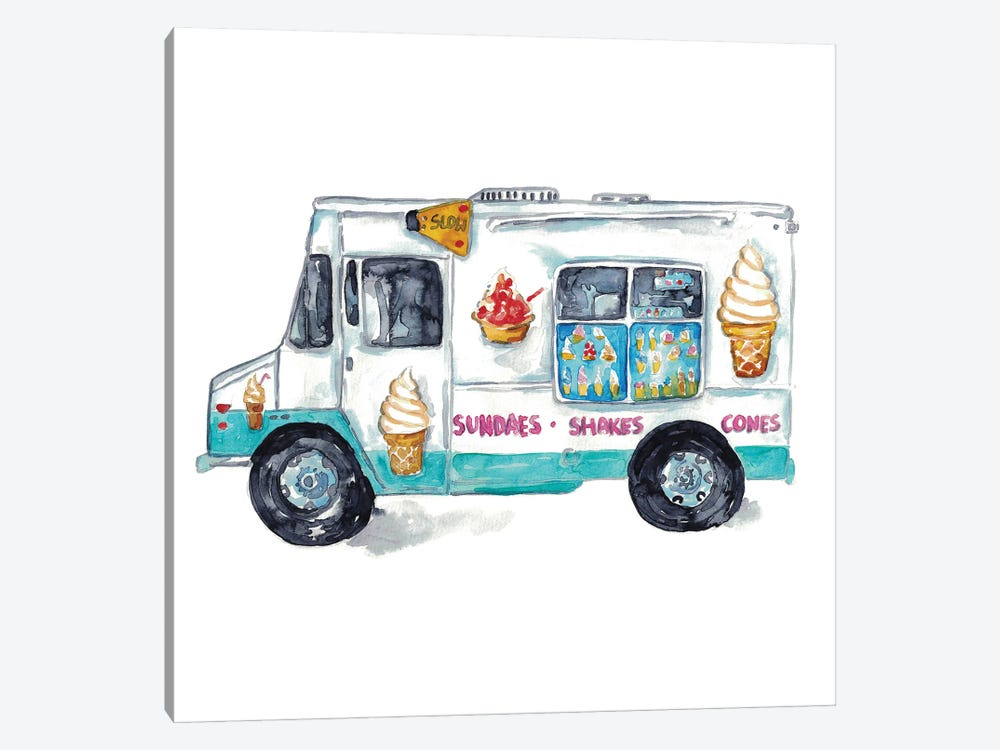 Ice Cream Truck by Maryna Salagub 1-piece Canvas Artwork