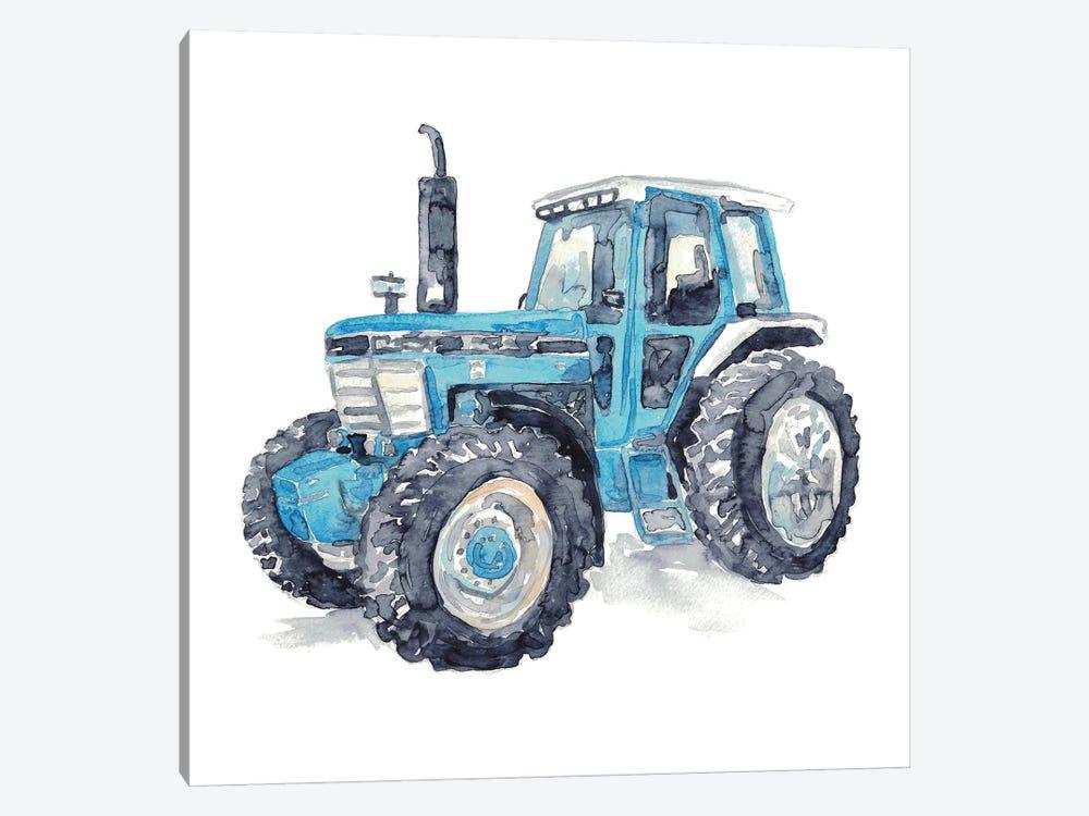 Blue Tractor by Maryna Salagub 1-piece Canvas Wall Art
