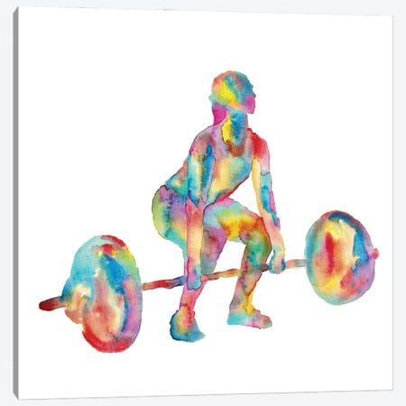 Weight Lifting Woman Canvas Print #MSG128} by Maryna Salagub Canvas Art Print