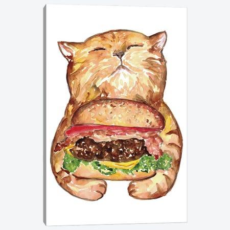 Cat Burger Canvas Print #MSG12} by Maryna Salagub Canvas Art Print