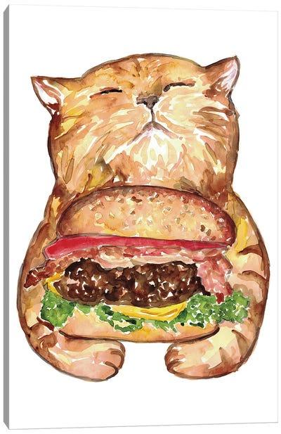 Cat Burger Canvas Art Print