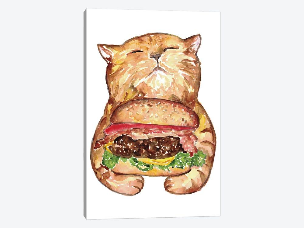 Cat Burger by Maryna Salagub 1-piece Canvas Print