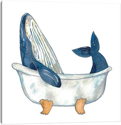 Whale Bath Canvas Art Print