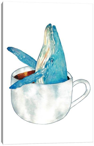 Whale Coffee Canvas Art Print