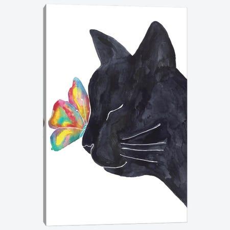 Cat Butterfly Canvas Print #MSG13} by Maryna Salagub Art Print