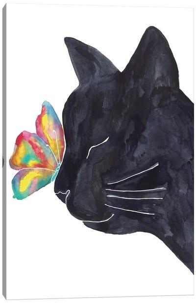 Cat Butterfly Canvas Art Print