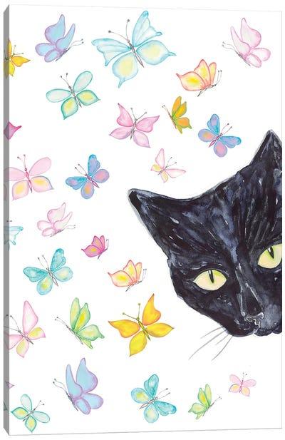 Cat Peeking Canvas Art Print