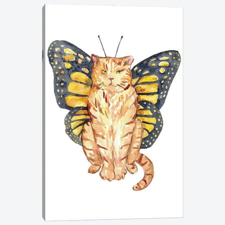 Cat Butterfly Wings Canvas Print #MSG17} by Maryna Salagub Canvas Art