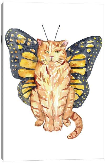 Cat Butterfly Wings Canvas Art Print