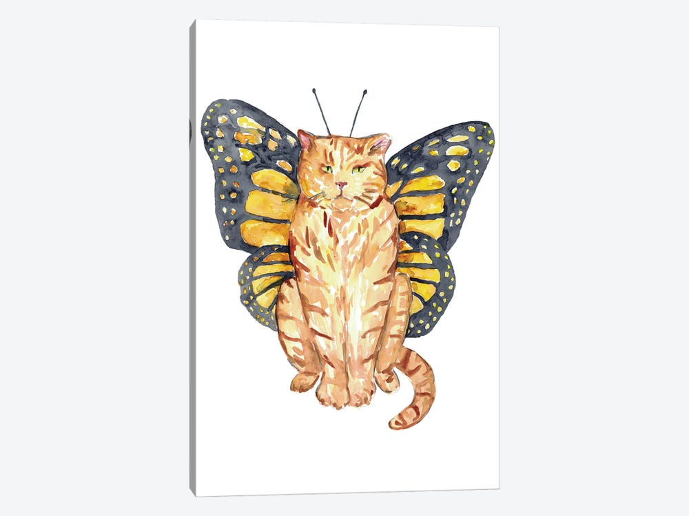 Cat Butterfly Wings by Maryna Salagub 1-piece Canvas Artwork