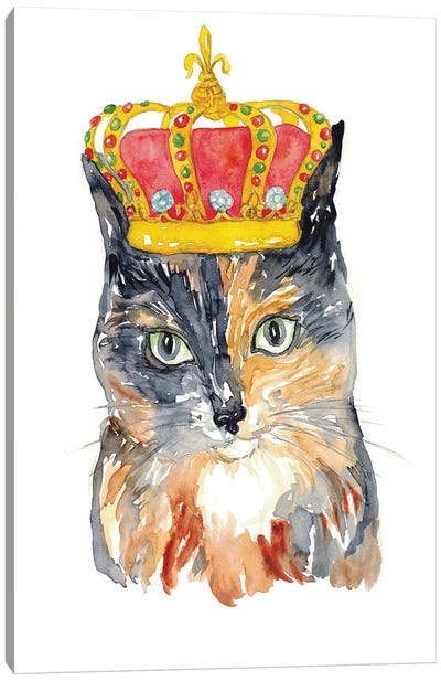 Cat Crown Canvas Art Print
