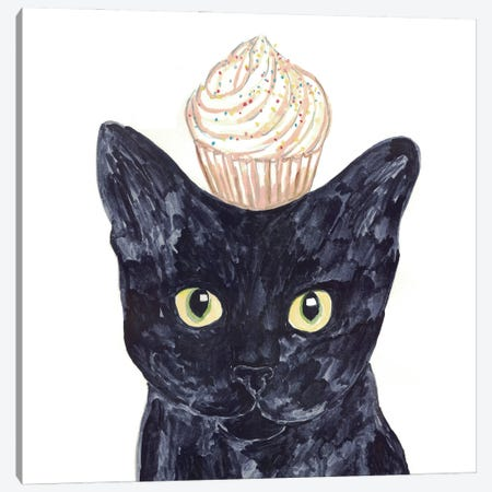Cat Cupcake Canvas Print #MSG19} by Maryna Salagub Art Print
