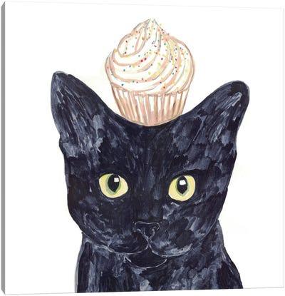 Cat Cupcake Canvas Art Print