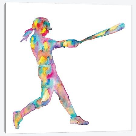 Baseball Girl Canvas Print #MSG1} by Maryna Salagub Canvas Art
