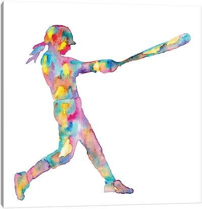 Baseball Girl Canvas Art Print