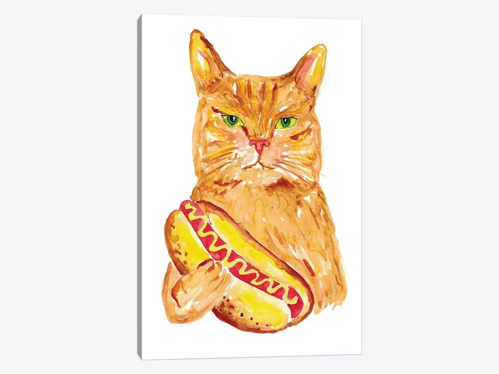Hotdog Cat by Maryna Salagub 1-piece Canvas Art Print