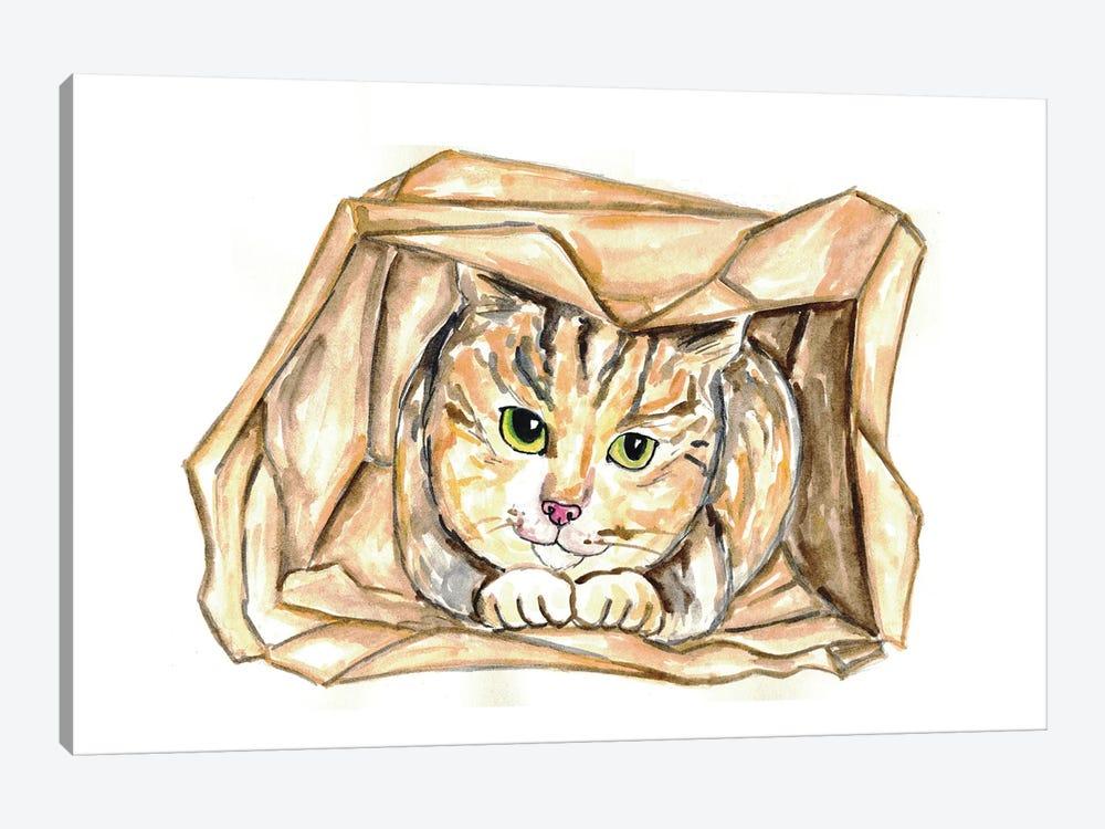 Cat In Bag by Maryna Salagub 1-piece Canvas Wall Art