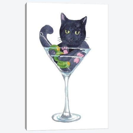 Cat Martini Canvas Print #MSG29} by Maryna Salagub Canvas Wall Art