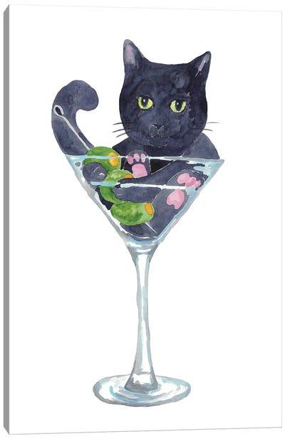 Cat Martini Canvas Art Print