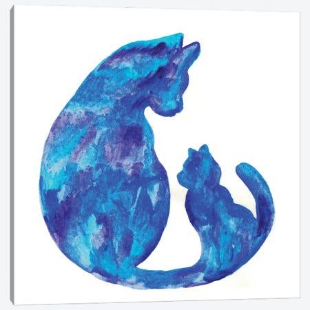 Cat Mama Canvas Print #MSG30} by Maryna Salagub Canvas Art Print