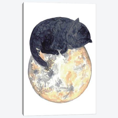 Cat Moon Canvas Print #MSG31} by Maryna Salagub Art Print
